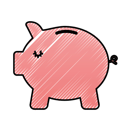 Bank piggy safe money protection icon vector illustration Foto de archivo - 98908866