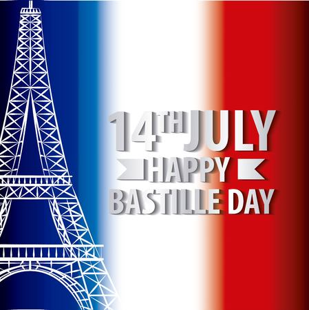 bastille day french celebration french independence vector illustration
