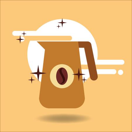 Coffee jar bean beverage image vector illustration. Illustration