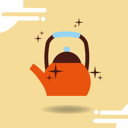 Coffee drip kettle maker fresh vector illustration.