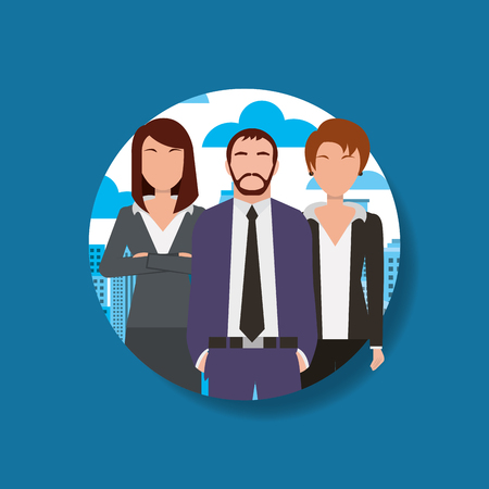People man and women business group vector illustration. Illustration