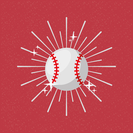 ball sport baseball sunburst color background vector illustration 일러스트