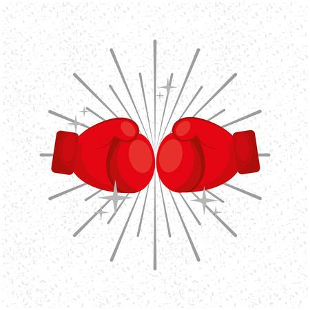 Gants boxe sport sunburst vecteur de fond. illustration Banque d'images - 99071081