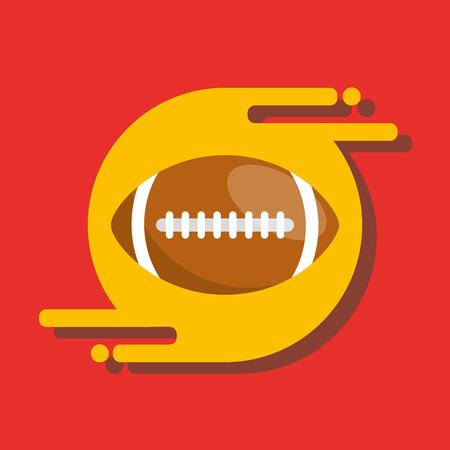 american football ball sport recreation equipment vector illustration Illustration