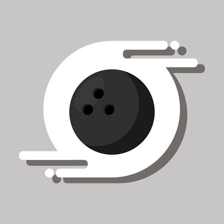 bowling ball sport recreation equipment vector illustration Çizim