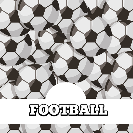 football balls sport background design vector illustration