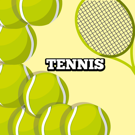 tennis racket and balls sport background design vector illustration Illusztráció