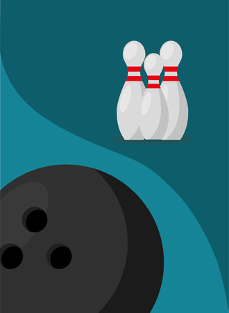 bowling pins ball game sport image vector illustration