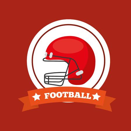 american football helmet sport game emblem vector illustration