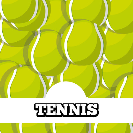 tennis balls sport background design vector illustration