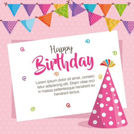 Happy birthday celebration card design