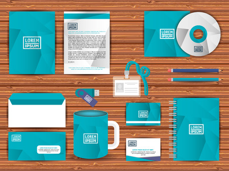 corporate company advertising set elements vector illustration design Illustration