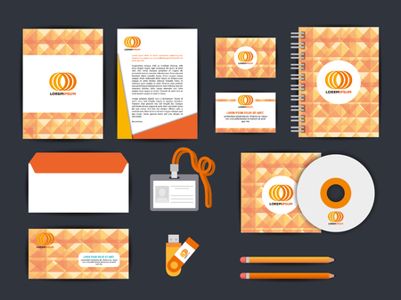 corporate company advertising set elements vector illustration design Ilustração