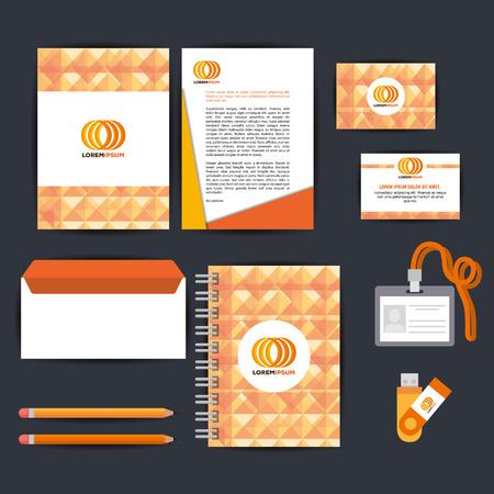 corporate company advertising set elements vector illustration design Ilustração