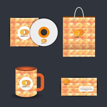 企業広告セット要素 ベクトルイラストデザイン