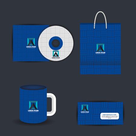 corporate company advertising set elements vector illustration design Illustration