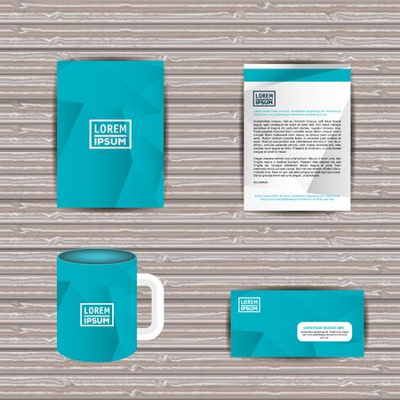 Corporate company advertising set elements vector illustration design