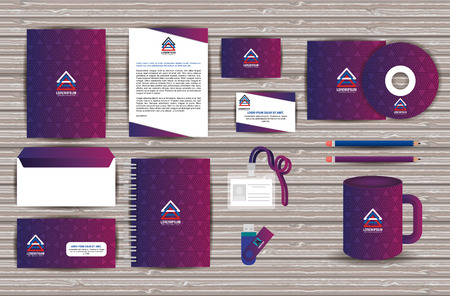Corporate company advertising set elements vector illustration design
