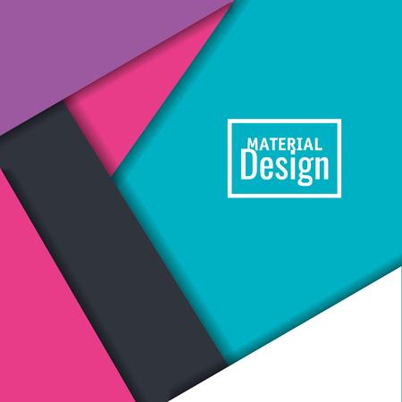 Material design lines cover illustration.