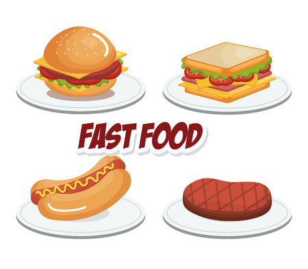 fast food product icons vector illustration design Illustration
