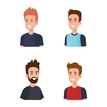 Men avatars characters vector illustration design Illusztráció
