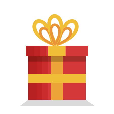 Illustration eines roten Geschenks lokalisiert auf einem weißen Hintergrund Standard-Bild - 98973758