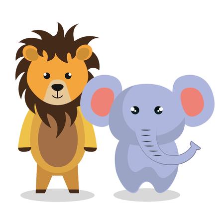 Mignon couple animaux farcis illustration vectorielle conception Banque d'images - 99005040