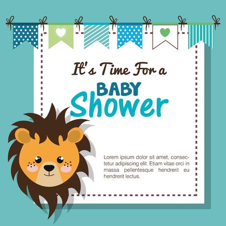 Invitación de baby shower con diseño de ilustración de vector de peluche Ilustración de vector