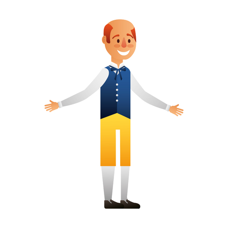 Swedish man with typical costume vector illustration design