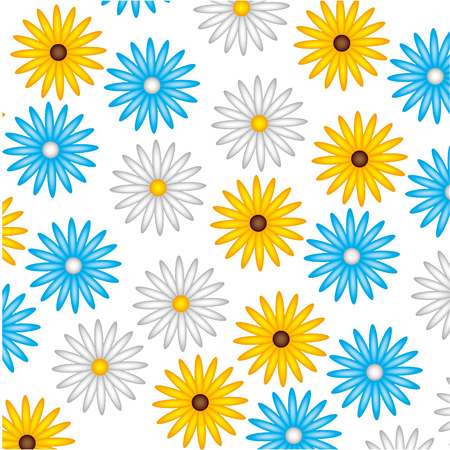 cute flower daisy decoration pattern vector illustration design
