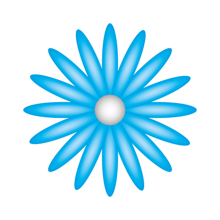 cute flower daisy decoration vector illustration design