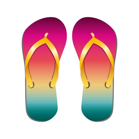 beach flip flops icon vector illustration design  イラスト・ベクター素材