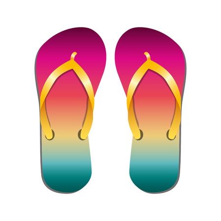beach flip flops icon vector illustration design