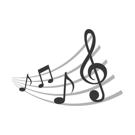 set of music notes pattern vector illustration design