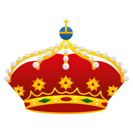 crown monarchy king icon vector illustration design
