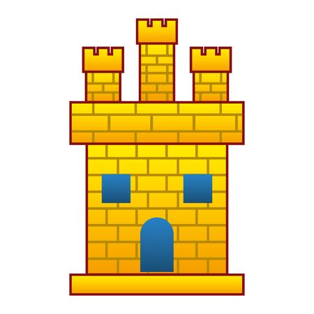 medieval castle facade icon vector illustration design  イラスト・ベクター素材