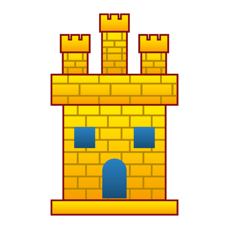 medieval castle facade icon vector illustration design 向量圖像