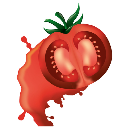 tomato crashed isolated icon vector illustration design