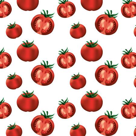 tomato fresh healthy food pattern vector illustration design Illustration