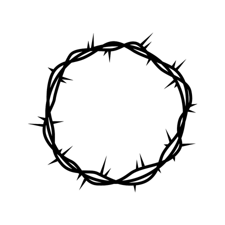 crown of thorns jesuschrist vector illustration design Vettoriali