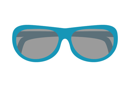 beach sunglasses accessory icon vector illustration design