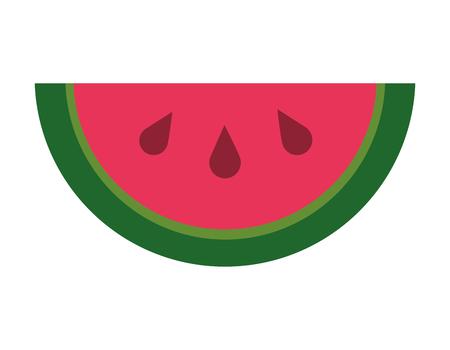 slice watermelon fruit fresh vector illustration design Imagens - 99014516