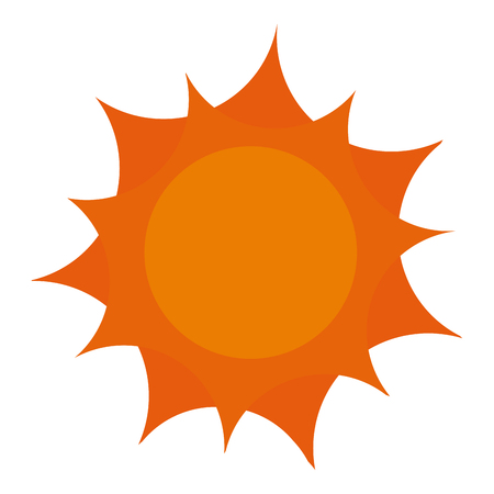 sun climate summer icon vector illustration design