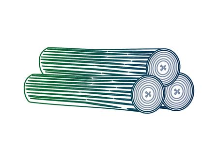 Troncs en bois isolé icône du design d & # 39 ; illustration vectorielle Banque d'images - 99014554