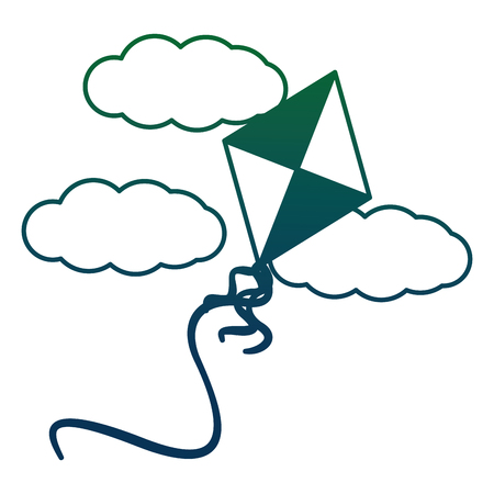 kite flying with clouds vector illustration design Illustration
