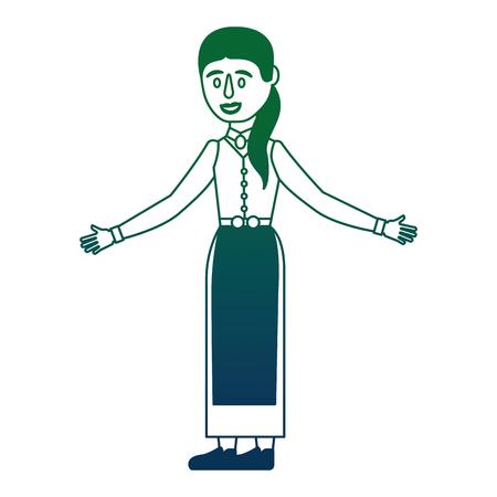 Swedish woman character icon vector illustration design