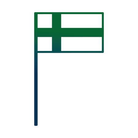 Swedish flag in pole vector illustration design