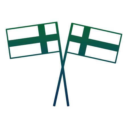 ポール交差ベクトルイラストデザインのスウェーデン国旗