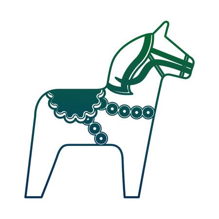 horse national toy of sweden vector illustration design