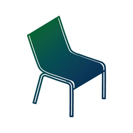 ビーチチェア孤立したアイコンベクトルイラストデザイン